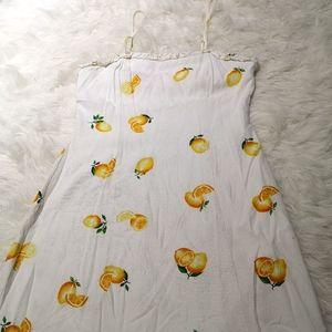 Cute lemon print mini dress